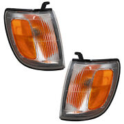 Fits 97-98 Toyota 4runner Set Of Front Park Clearance Signal Marker Lights Lamps
