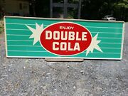 Nos Double Cola Sign. Painted Metal. 54inx18in