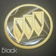 Black And Gold Buick Zenith Wire Wheel Chips Emblems Decals Set Of 4 Size 2.75in.