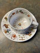Vintage Royal Kendal Fortune Telling Tea Cup And Saucer, Fine Bone China - England