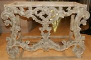 Antique Console Table Base Hand Carved Empire Neoclassical Wood Antique