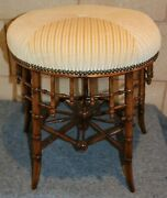 Antique Spindle Foot Stool Footstool Chinese Chippendale Fully Restored English