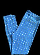 Tc Lularoe Tall And Curvy Blue And Yellow Shapes Leggings Versatile Nwt