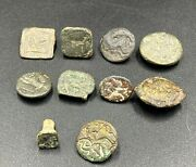 Lot Antique Vintage Old Ancient Persian Sasanian Jewelry Bronze Stamp Signet