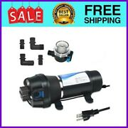 High Pressure Water Diaphragm Self Priming Pump With Filter 110v 45psi 4.5gpm