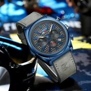 Fashion Mens Sports Date Analog Quartz Leather Stainless Steel Wrist Watch Gift