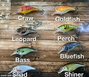 Lot Of Assorted Crankbaits W/ Rounded Bill, Internal Rattle, Lifelike Patterns