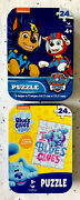 Nickelodeon Paw Patrol And Blues Clues Jigsaw Puzzles, Collector's Tins Set/2-new