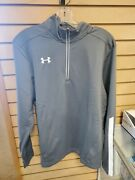 Menand039s Under Armour Qualifier 1/4 Zip Gray Pullover 1273917-040brand New Wtags