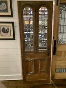 Vintage Pantry Door With Arched Windows