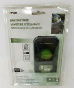 Woods Outdoor Lighting Timer Up To 24 On/off Settings 6 Cord