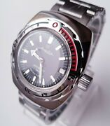 Amphibia Vostok Mechanical Automatic 200 M Russian Military Watch Diving 090662