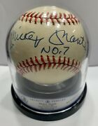 Beckett Grading Authentic Mickey Mantle Auto Baseball With No.7 Encapsulated