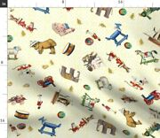 Cars Sailboat Trains Toy Soldiers Pull Toys Horse Spoonflower Fabric By The Yard