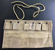 Wwii Us Military M1932 Pill Vial Type Ii Insert First Aid Medic Combat Bag Pouch