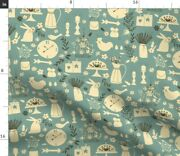Little Farmhouse Mouse Chicken Rabbit Bird Spoonflower Fabric By The Yard