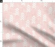 Pink Trendy Arrow Boho Baby Girl Farmhouse Bison Spoonflower Fabric By The Yard