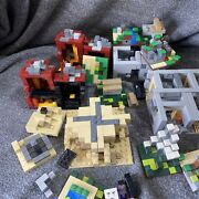 All Lego Minecraft Micro Worlds 21102, 21105, 21106, 21107 For Parts Only