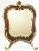 Antique French Bronze Tortoise Table Top Easel Vanity Mirror Sale 1925