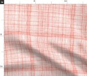 Shabby Chic Rustic Check Red And White Farmhouse Spoonflower Fabric By The Yard