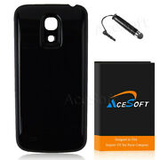 Accessory 6300mah Extended Battery+black Cover For Samsung Galaxy S4 Mini I435