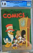 Walt Disneyand039s Comics And Stories 28 1943 Cgc 7.0 -- O/w To White Pages Nye