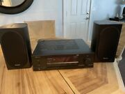 Sherwood Rx-4109 Receiver And 2 Large Pioneer Speakers