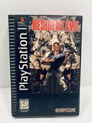 Resident Evil Sony Playstation 1 Ps1 1996 Long Box Complete W/ Manual And Reg Card