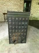 2 Antique Us Post Office Box Metal Cabinet Combination Lock Vintage Mail Boxes