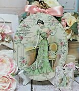 Shabby Chic Vintage Country Cottage Style Wall Decor. Sign Parisienne Woman