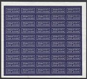 Ethiopia Circa 1980, Air Mail Stickers Sheet Of 50, Very Rare, Mnh
