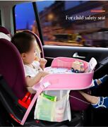 Kids Seat Tray Waterproof Car Table Baby/toddler Play Travel Snackdrawing Girls