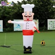 8ft Inflatable Waving Hand Air Dancer Advertising Sky Chef Cook With Air Blower