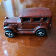"""Vintage 1920's Arcade Cast Iron Ford Model T Coupe 6"""" Original Please See Photo"""