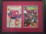 Spiderman Torment Issue 1 And Spawn Issue 8 Signed And Framed. Super Rareandnbsp