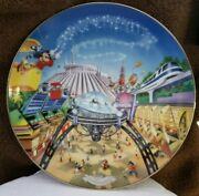 Disney 'tomorrowland' Mickey Mouse Collector Plates By The Bradford Exchange