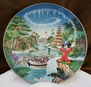 Disney 'adventureland' Mickey Mouse Collector Plates From The Bradford Exchange