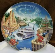 Disney 'frontierland' Mickey Mouse Collector Plates From The Bradford Exchange