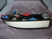 Vintage 1950's Ideal Toys Harbor Launch Plastic Toy Boat For Parts
