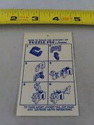 Vintage 1950's Puzzle Pup Junior Instructions Only Keychain Key Ring Chain D2