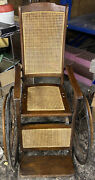 Antique Wheelchair 1840andrsquos Vintage Pre Civil War Old And In Working Condition