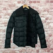 Dolce And Gabbana Goose Duck Down Puffer Jacket Removable Cashmere Collar Sz 48