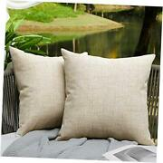 Outdoor Pillows For Patio Furniture Waterproof Pillow 18 X 18-inch Cream