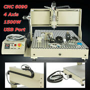 6090 Cnc Router Engraving Machine 4-axis Wood Engraver 3d Cutter With Usb Port