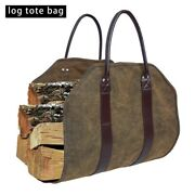 Canvas Firewood Carrier Log Storage Bag Package Outdoor Tote Camping Carry Bag