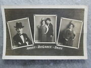Antique Harry And Daisy Degrace Vaudeville Act Real Photo Signed Udb Postcard