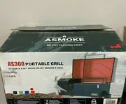 New Asmoke As300 Electric Portable Wood Pellet Tailgating Tabletop Grill Smoker