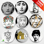 Wall Hanging Art Craft Dishes Fornasetti Platte Vintage Plates Nordic Lady Face