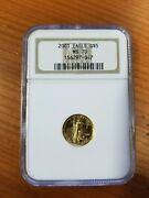 2001 Gold Eagle G5 Ngc Ms 70andnbsp