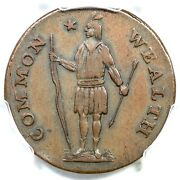 1788 13-n R-4+ Pcgs Xf 45 No Period Massachusetts Cent Colonial Copper Coin 1c